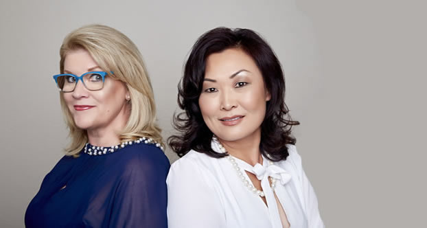 Edie Hand and Svetlana Kim